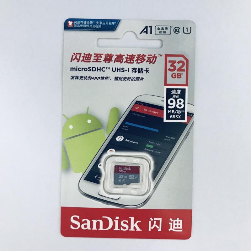 Thẻ nhớ micro SD sandisk Ultra A1 32GB SDHC class 10 98Mb/s