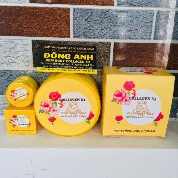 Combo Kem Body X3 collagen và kích trắng X3 Đông Anh 300gr - Có phiếu bảo hành