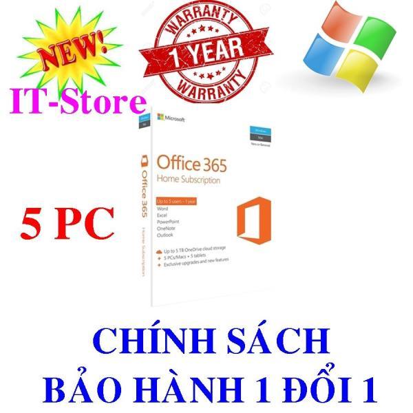 Giá Phần mềm Office 365 Home English APAC EM Subscr 1YR Medialess P2 ( Mã Sản Phẩm: 6GQ-00757)