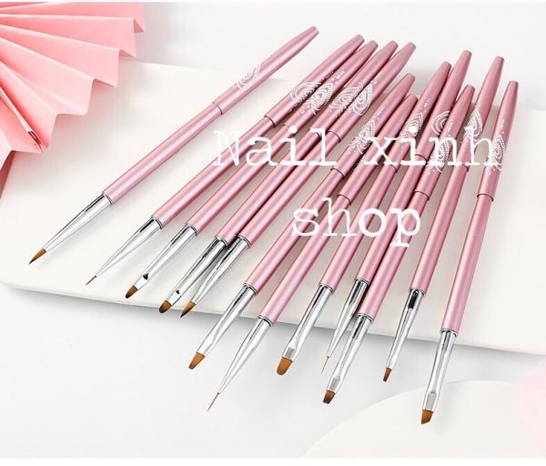 Set 12 cọ vẽ nail nghê thuật, phụ kiện nail cao cấp chuyên dụng nail salon , cọ vẻ gel hot 2020