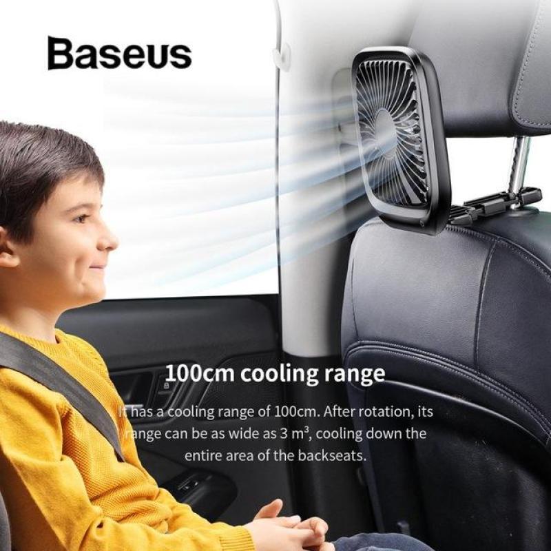 Quạt mini để bàn  hoặc  gắn ghế sau ô tô Baseus  với 3-Tốc Độ làm mát sử dụng nguồn USB  dùng cho nhân viên  Văn Phòng hoặc trên xe hơi - Phân phối bởi Vietstore