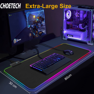 CHOETECH RGB Gaming Mouse Pad Large Mouse Pad Gamer Led Computer Mousepad Big Mouse Mat with Backlight Carpet For keyboard Desk Mat thumbnail