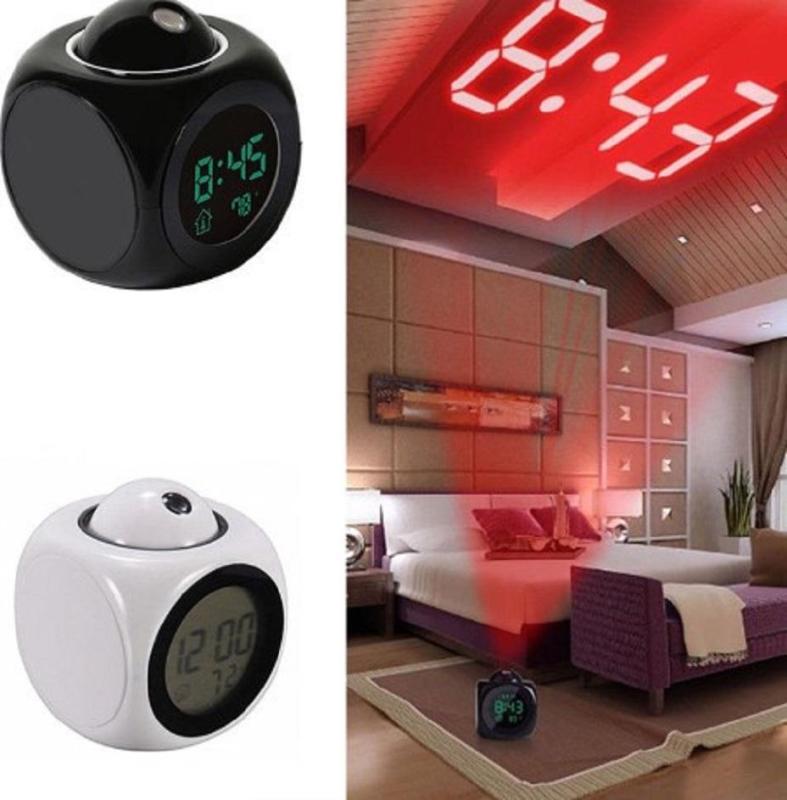 Đồng hồ báo thức để bàn có giọng nói và Chức Năng Hiển Thị Nhiệt Độ bằng ĐÈN LED lên tường bán chạy