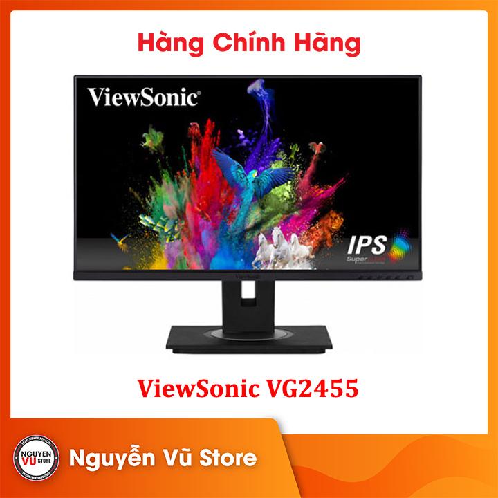 Màn hình LCD Viewsonic VG2455 USB Type-C 24 inch Full HD (1920 x 1080) 5ms 75Hz IPS Stereo Speaker 2W x 2