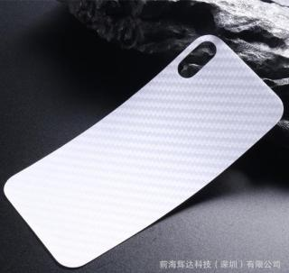 Miếng dán vân cacbon mặt lưng 3D dành cho iphone X Xs Xs max (trong suốt) thumbnail
