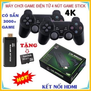 [SẴN HÀNG] Game stick 4K, Máy Chơi Game Điện Tử 4 Nút Cầm Tay HDMI Không Dây Hơn 3000 Trò Chơi, Máy Chơi Game Cổ Điển ATARI PS1 FC GBA SFC CPS... thumbnail