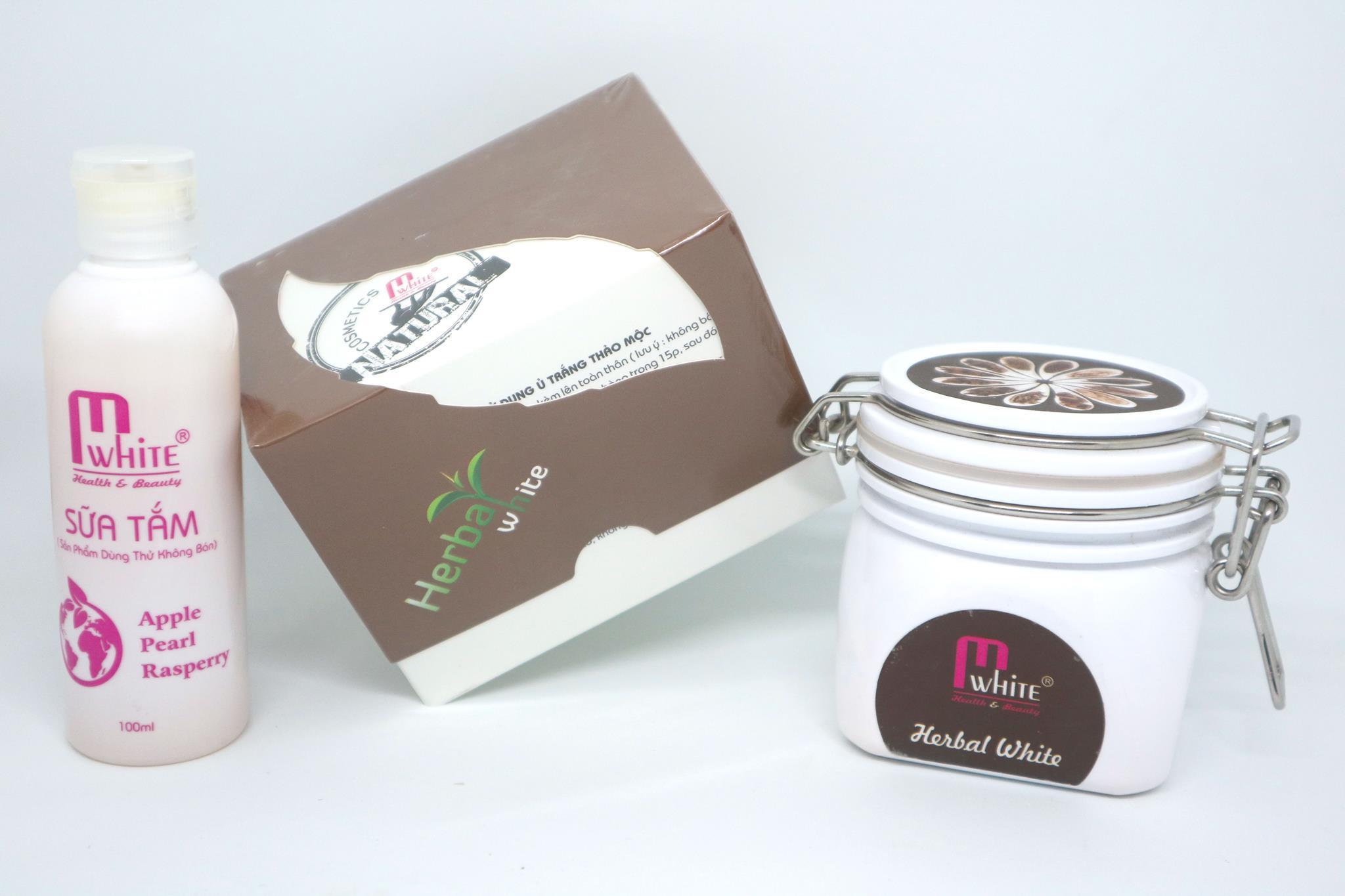 ủ trắng da thảo mộc trắng 80 90% chỉ sau 7 ngày sử dụng tặng kèm sữa tắm nhập khẩu