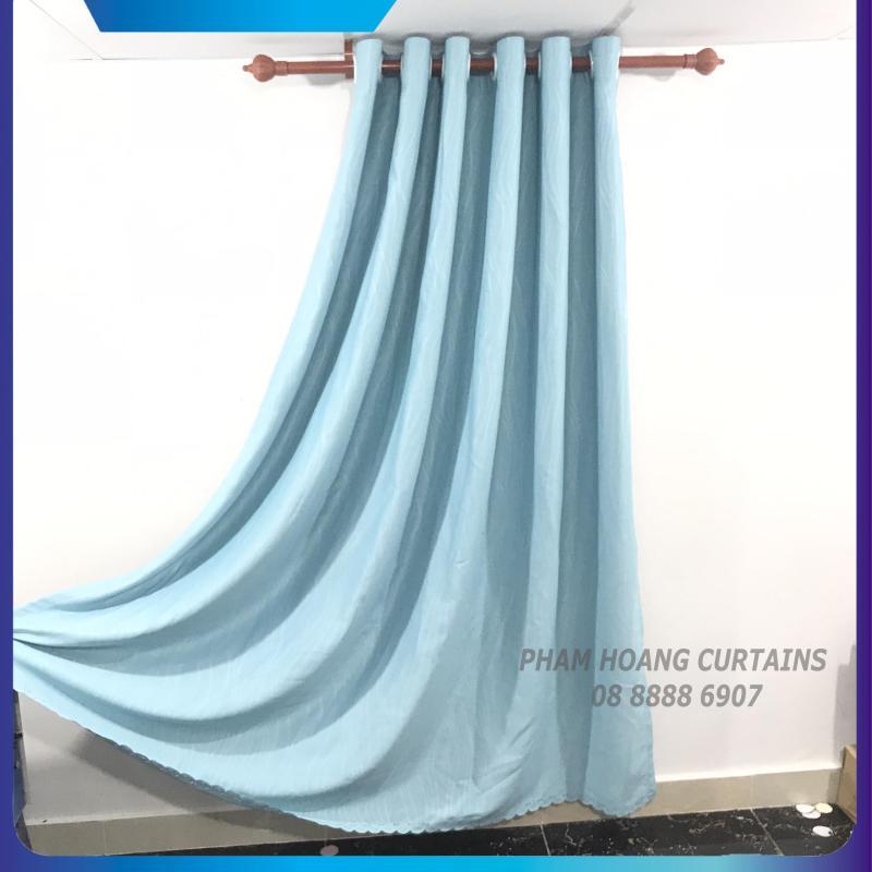 màn cửa, rèm cửa màu xanh ngọc, ngang 1.5m, 2m, 2.5m, 3m cao tùy chọn, dùng làm rèm cửa chính, rèm cửa sổ, màn cửa chống nắng + tặng dây vén màn trang trí, ilakaka curtains