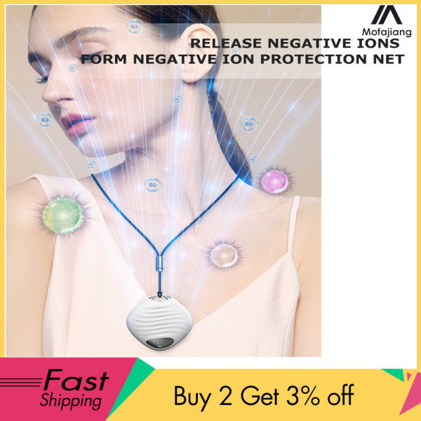MOFAJIANG Wearable Air Purifier Necklace Mini Portable USB Air Cleaner,Negative Ion Generator Low Noise,Air Freshener USB Charge,ion,ionizer necklace virus blocker necklace for Adults Kids For PM2.5 Dust Pollen,Prevent pollen and other allergens