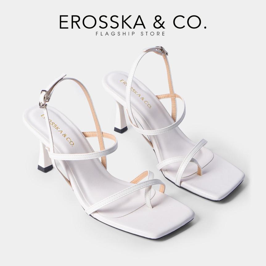 Giày cao gót Erosska thời trang phối dây gót nhọn kiểu dáng xỏ ngón cao 7cm BM004 (NU) giá rẻ