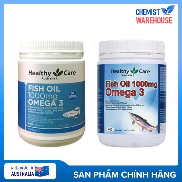 Dầu cá Healthy Care Fish Oil Omega 3 1000mg của Úc 400v - Chemistware