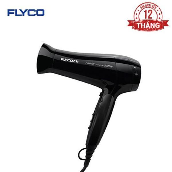 Máy sấy tóc Flyco FH-6231 - Công suất lớn 2000W - Chế độ sấy lạnh bảo vệ tóc - Chống quá nhiệt an toàn - Tay cầm gặp tiện dụng - Hàng chính hãng bảo hành 24 tháng. cao cấp