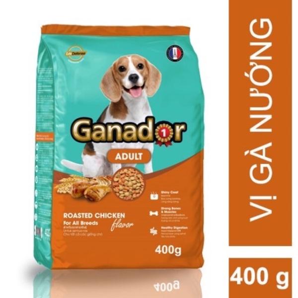 HCM-Thức ăn dạng hạt  GANADOR ADULT (dành cho chó trên 1 năm tuổi) gói 400gr (hanpet 209)-HP10319TC