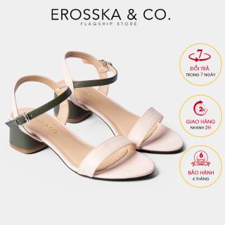 Gia y sandal cao go t Erosska mu i tro n phô i dây nhiê u ma u tinh tê cao 3cm EB019 (GE) thumbnail