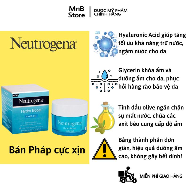 [Size 15g và 48g ] Kem Dưỡng Ẩm Neutrogena Water Gel Hydro Boost cho da dầu mụn, mỏng nhẹ nhanh thấm 50ml