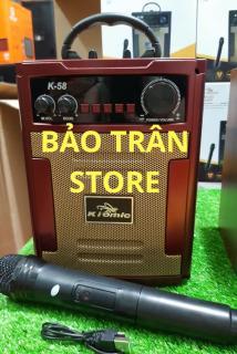 [HCM]Loa Kéo Di Động Karaoke Bluetooth K58 - Loa Xách Tay K-58 - Tặng Kèm 1 Micro Không Dây - BAOTRAN STORE thumbnail