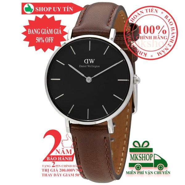 Đồng hồ nữ D.W Classic Petite Bristol - 32mm- Màu Bạc (Silver), mặt đen(Black) DW00100177
