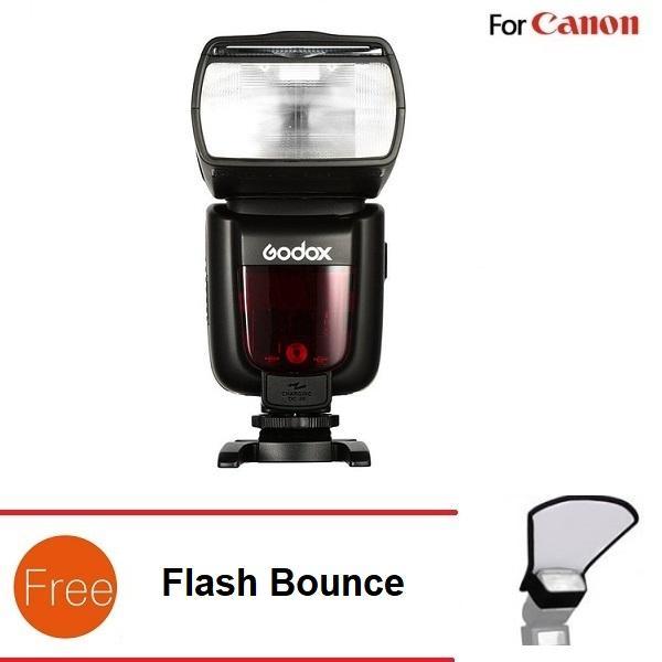 Giá Đèn Flash Godox TT685 Cho Canon - Tặng Flash Bounce