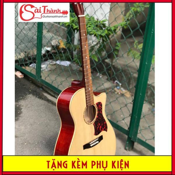 [Có dán sẵn miếng dán chống xước] Đàn guitar acoustic có ty chỉnh cần ST897