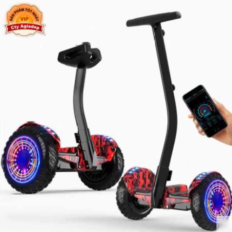 Phân phối Xe điện cân bằng siêu xịn Superich - 2 tay điều khiển và chân kẹp - Phát nhạc Bluetooth App - Pin trâu 54V Hàng nhà giàu