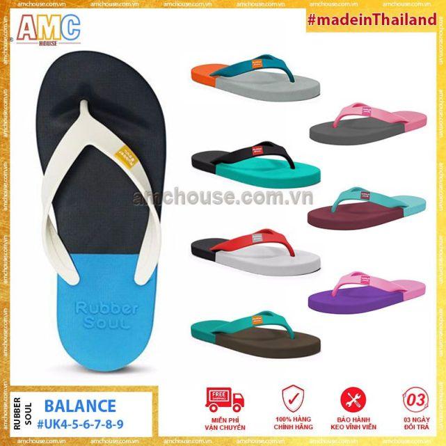 (14 màu) Dép Thái Lan Xỏ Ngón unisex  nam nữ RUBBER SOUL - Balance giá rẻ