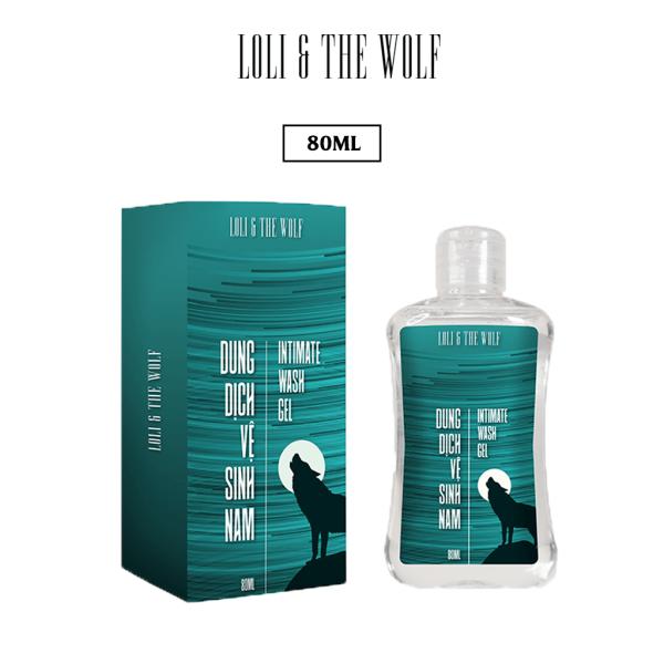 Dung dịch vệ sinh nam Loli & The Wolf dạng gel thành phần tự nhiên dịu nhẹ cho vùng kín nam - chai 80ml