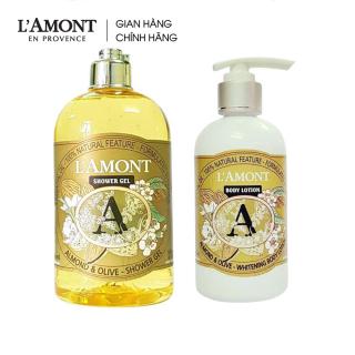 Combo Sữa tắm Almond hương hạnh nhân 500ml và Sữa dưỡng thể Almond 250ml - L amont En Provence thumbnail