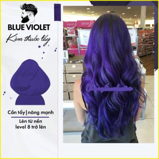 Thuốc nhuộm tóc màu BLUE VIOLET dành cho mọi loại tóc vào màu tốt hơn khi nâng tone thumbnail