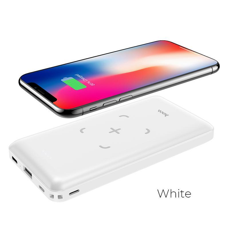 Pin sạc dự phòng Hoco J50 dung lượng 10000mAh tích hợp sạc không dây cho Iphone 8,.. iphone 11, Samsung s8,9,10, Note8,9..