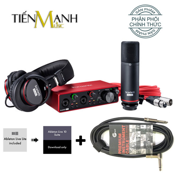 [Tặng Cable 3m] Focusrite Scarlett 2i2 Studio Gen 3 Sound Card Âm Thanh - Focus USB Audio Interface SoundCard (3rd - Gen3)