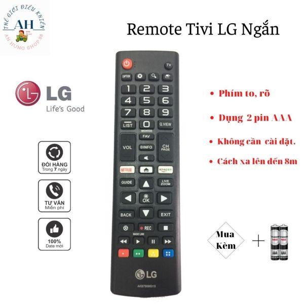 Bảng giá Remote Tivi LG, Nhỏ Gọn,Phím Mềm,Rõ,Sắc Nét,Pin AAA,Nhựa ABS, Tương Thích 100% Các Dòng Tivi LCD, Plasma, LED đời cũ.