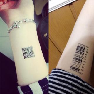 [ TATTOO NỮ MINI NHỎ XINH DỄ THƯƠNG ] Hình xăm dán tatoo mã vạch - miếng dán hình xăm đẹp dành cho nữ thumbnail