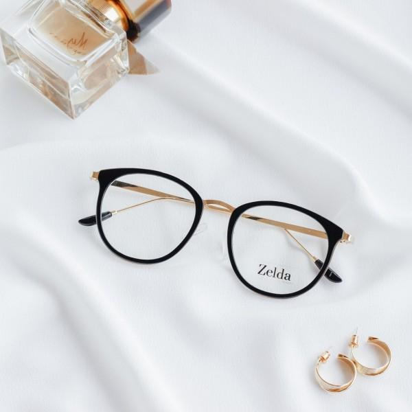 Giá bán [LẮP SẴN CẬN] Gọng kính cận nữ, gọng cận kim loại, kính mắt mèo, tròng kính chống ánh sáng xanh, đổi màu Z9237