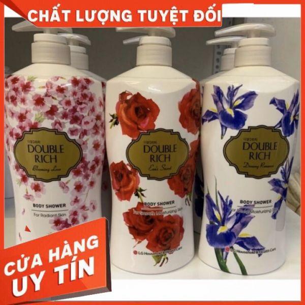 [chính hãng]🍀🍀🍀 Sữa tắm Double Rich 800g hoa anh đào,hoa Iris, Hương Hoa Hồng 🍀🍀🍀  giữ hương lâu , mùi thơm dễ chịu 🍀🍀🍀🍀