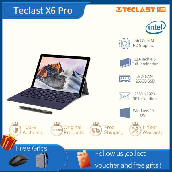 Teclast X6Pro 12.6 inch Intel Core-M CPU 8GB RAM 256GB SSD 2 in 1 Windows 10 Tablet IPS Touch Screen Notebook  1 year warranty Installment