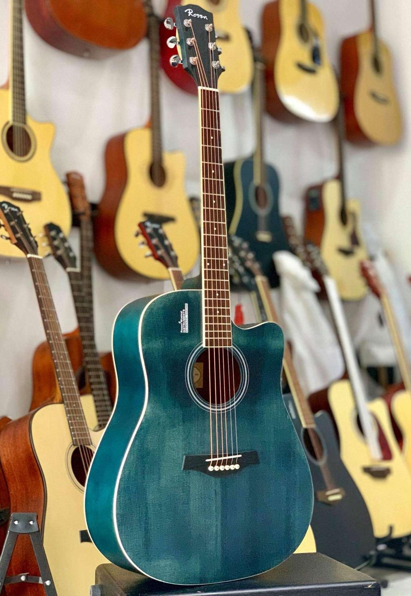 Đàn Guitar Rosen G11 xanh ngọc
