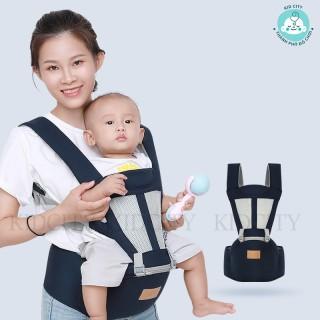 (Chính hãng) Địu em bé Aiyuanmei 6 tư thế, có bệ đỡ trợ lực, túi đựng đồ, chống gù thumbnail