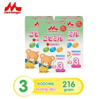 Combo 3 hộp Sữa Morinaga Số 3 Kodomil 216g hộp Cho Bé Từ 3 Tuổi - Hương Dâu HD 30.09.2021 thumbnail