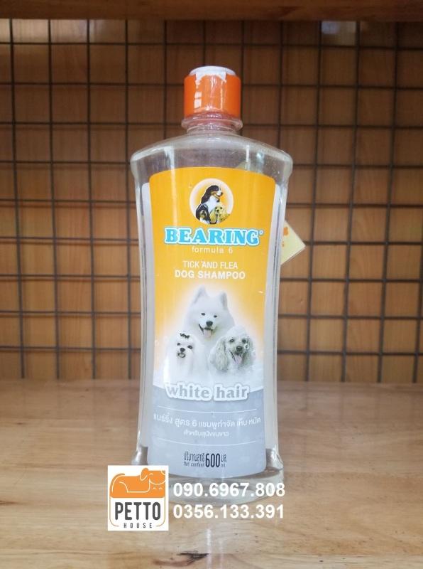 Sữa tắm trị ve, bọ chét cho chó BEARING TICK & FLEA SHAMPOO SMELLY HAIR 600ml