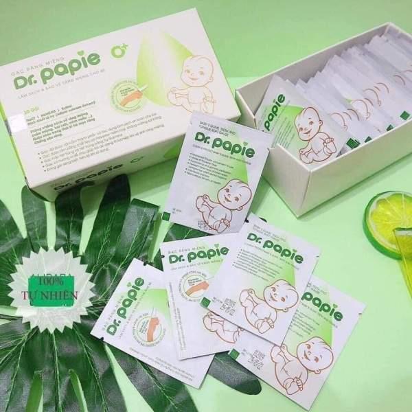 Hộp 30 gói gạc rơ lưỡi Drpapie chiết xuất thiên nhiên các bệnh răng miệng cho trẻ, sản phẩm đa dạng về, chất lượng tốt, cam kết hàng nhận được giống với mô tả