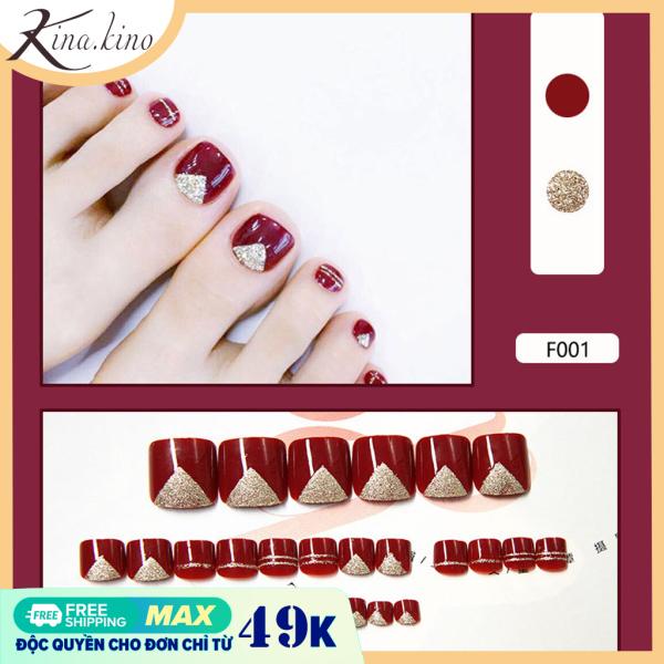 [Tặng keo ] Set 24 móng chân giả cao cấp- Kinakino phukienlamdep giá rẻ