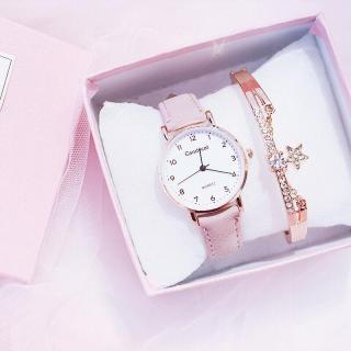 (Tặng kèm hộp và pin) Đồng hồ thời trang nữ Candycat mặt số dây da nhung LLQQ612 thumbnail