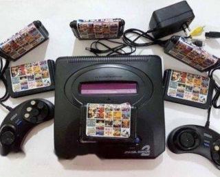 Máy chơi game điện tử cầm tay Sega Ganesis 3(16bit), máy chơi gamer 6 nút,máy game băng nhựa 3 tích hợp game trong máy+ Tặng 1 băng SEGA 8 trò thumbnail