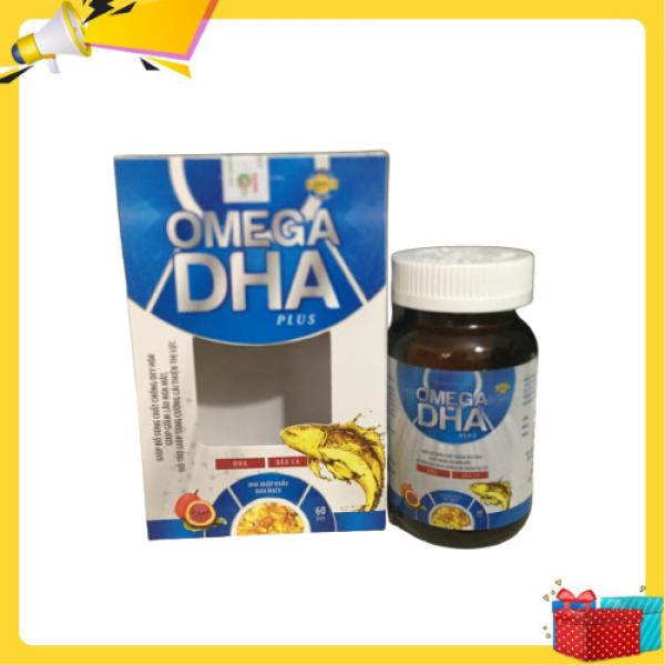 Omega DHA Pluss- giúp bổ sung chất chống oxy hóa , giúp giảm lão hóa mắt, hỗ trợ tăng cường cải thiện thị lực- chứa dầu cá và DHA- Hộp 60 viên cao cấp