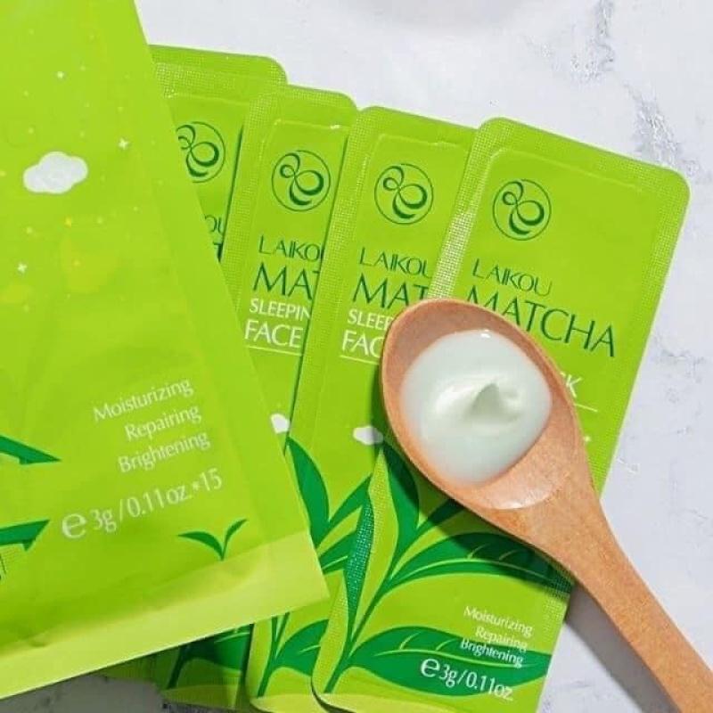 Bịch 15 Miếng Mặt Nạ Ngủ Trà Xanh Matcha Mud Mask Laikou giá rẻ