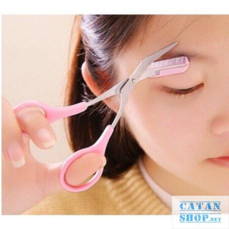 Kéo cắt tỉa chân mày đẹp kiểu HÀn Quốc, kéo cắt lông mày Mini BrownClass GD338-keotiaCM