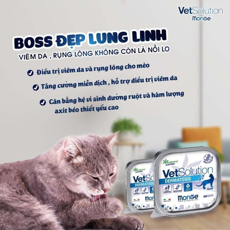 Pa tê đặc t.rị viêm da cho chó mèo Monge Dermatosis
