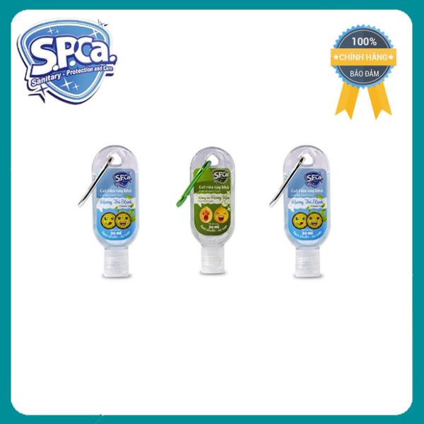Gel rửa tay khô Spca 30ml có móc khóa - Diệt khuẩn, phòng ngừa dịch bệnh [Chính Hãng]