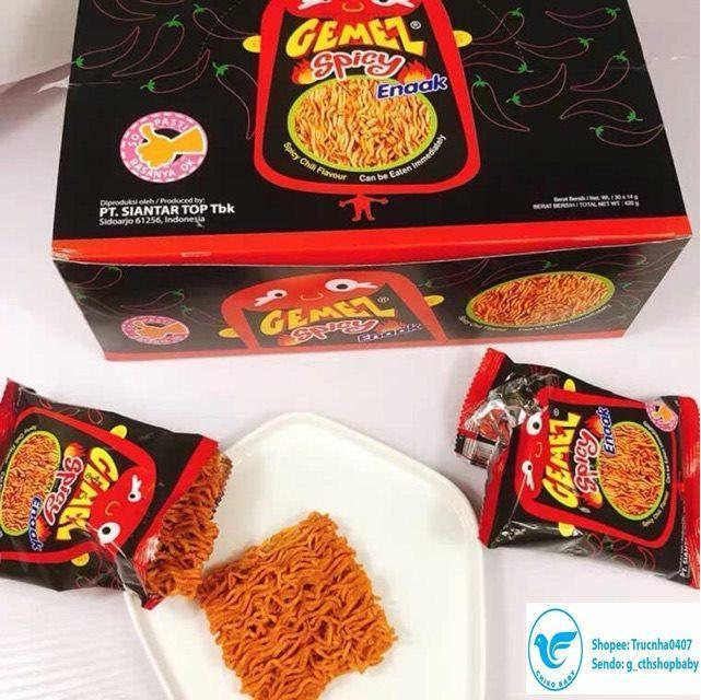 Giá Quá Tốt Để Có Combo 5 Gói Mì Snack Enaak Vị Cay Spicy Gemez 14gr (gói đen)
