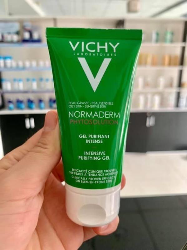 Vichy sữa rửa mặt vichy dạng gel Normaderm làm sạch sâu, giảm bã nhờn 400ml